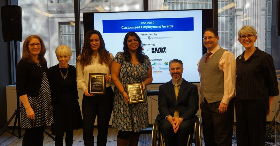 Staff at 2019 Customized Employment awards