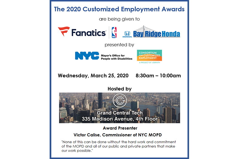 2020 Customized Employment Awards
