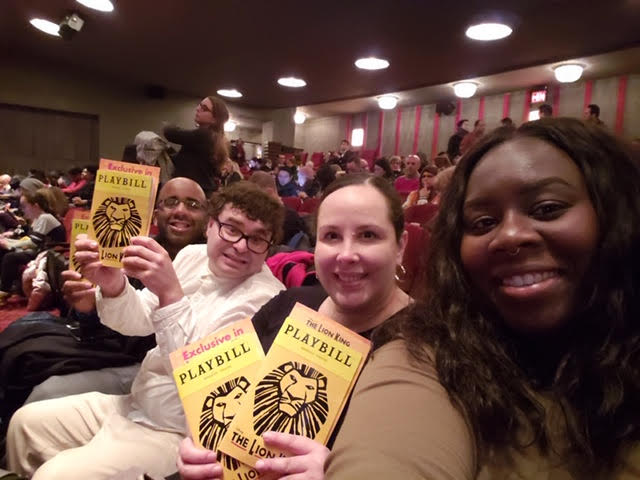Alex at Broadway show